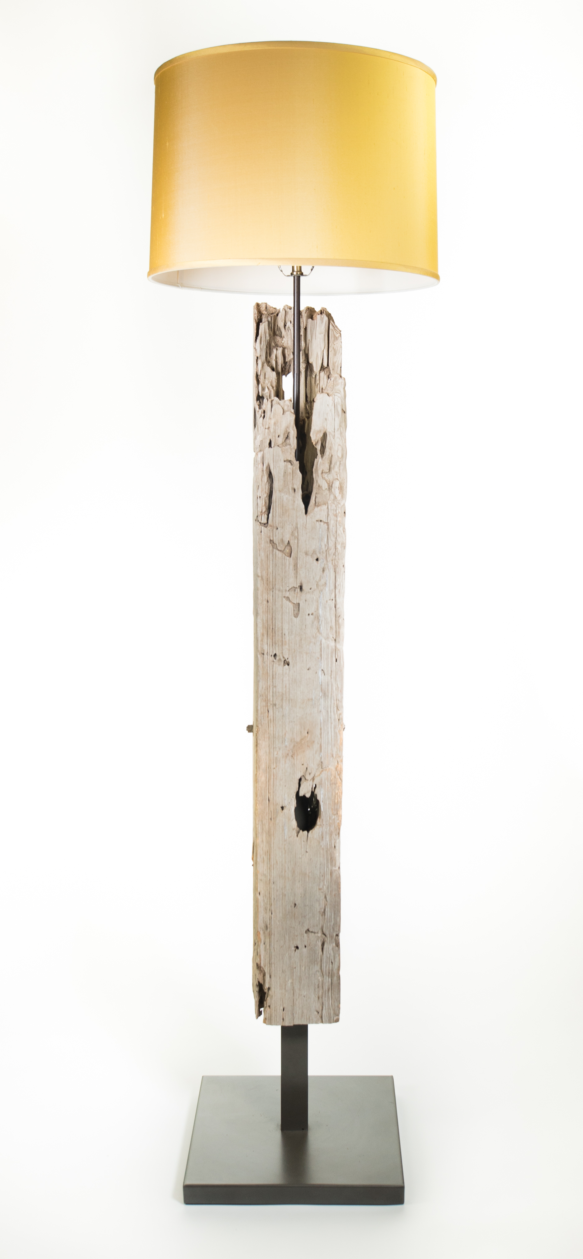 driftwood floor lamp cotton shade with rustic image abuja brown