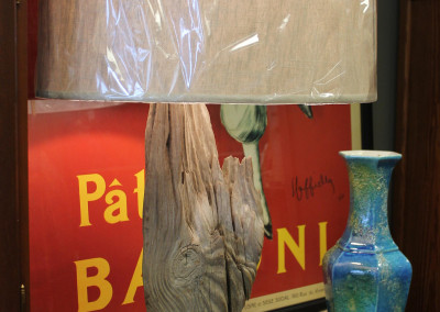 SOLD – Heart Pine and Driftwood Lamp
